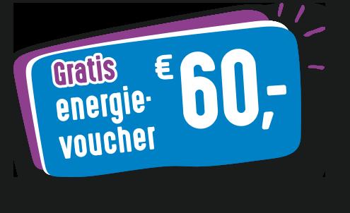 Gratis energievoucher van € 60,-